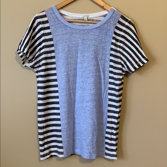 J. Crew Solid and Striped Linen Shirt